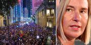 Protesterna i Hongkong/EU:s utrikeschef Federica Mogherini. TT