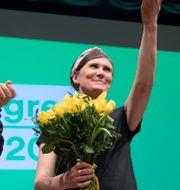 Per Bolund, Märta Stenevi och Isabella Lövin.  Henrik Montgomery/TT / TT NYHETSBYRÅN