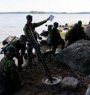 Soldater på Amfibieregementet 1 i Berga. Henrik Montgomery/TT / TT NYHETSBYRÅN
