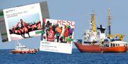 Skärmdumpar från Benettons Twitterkonto/räddningsfartyget Aquarius. Salvatore Cavalli / TT / NTB Scanpix