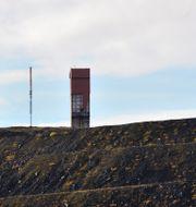 Slagghögar vid LKAB:s gruva i Kirunavaara HENRIK MONTGOMERY / TT / TT NYHETSBYRÅN