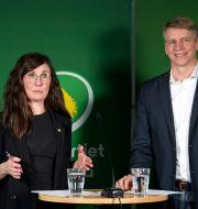Märta Stenevi och Per Bolund Jessica Gow/TT / TT NYHETSBYRÅN