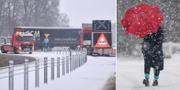 SMHI varnar för besvärligt väglag och mer snö väntas. TT