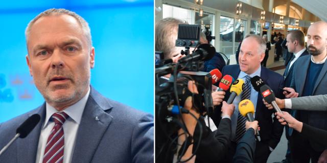 Jan Björklund och Jonas Sjöstedt.  TT