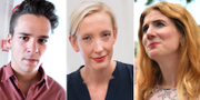 Lorentz Tovatt, Sofia Arkelsten och Caroline Szyber. TT