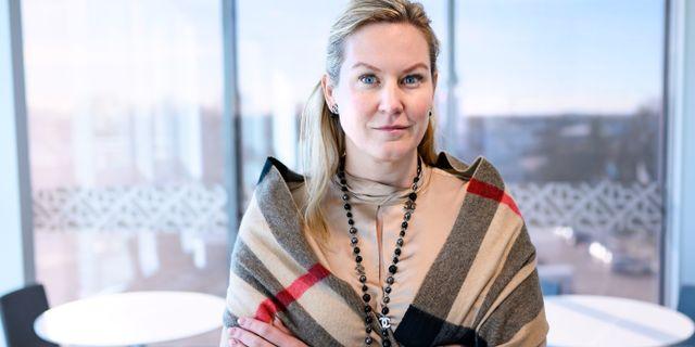 Kommunstyrelsens ordförande i Hörby, Cecilia Bladh in Zito (SD). Johan Nilsson/TT / TT NYHETSBYRÅN