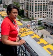 Muriel Bowser på taket av Hay Adams hotel i Washington.  Khalid Naji-Allah / TT NYHETSBYRÅN