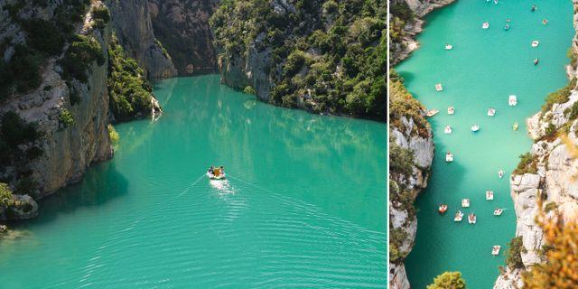 Gorges du Verdons turkosblå vatten ligger 2,5 timmar väster om Nice. Getty