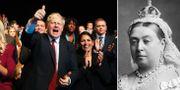 Boris Johnson/drottning Victoria. TT/Wikimedia