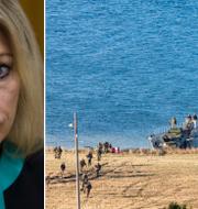 Maria Zacharova kommenterar Nato-övningen Trident Juncture. TT