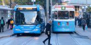 Arkivbild. Buss och spårvagn i Göteborg.  FREDRIK SANDBERG / TT / TT NYHETSBYRÅN