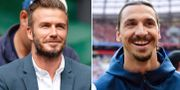 Zlatan och Beckham är goda vänner.  Bildbyrån.