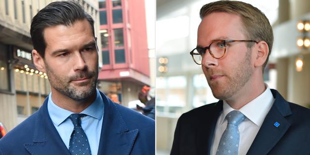 Johan Forssell (M) och Andreas Carlson (KD). TT