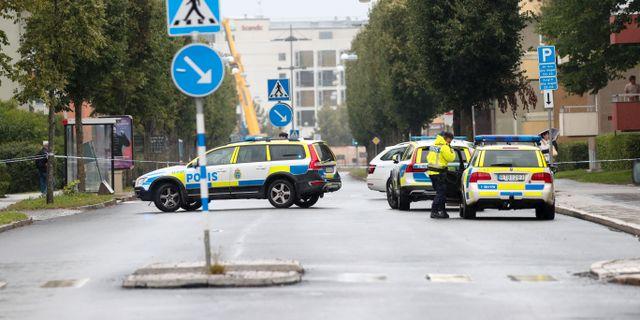 En gata i Linköping har spärrats av sedan ett misstänkt föremål hittats utomhus, uppger polisen. Jeppe Gustafsson/TT / TT NYHETSBYRÅN