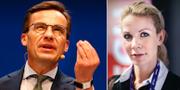 Ulf Kristersson och Anna König Jerlmyr. TT