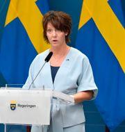 Matilda Ernkrans, minister för högre utbildning och forskning. Anders Wiklund/TT / TT NYHETSBYRÅN