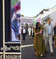 Drottning Elizabeth II på resa i London samt prins Harry och Meghan på statsbesök i Sydafrika i september 2019.  TT Nyhetsbyrån