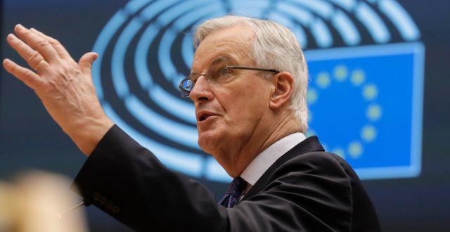 Michel Barnier. Olivier Hoslet / TT NYHETSBYRÅN