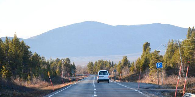 E10 mellan Kiruna och Narvik. Arkivbild. Fredrik Sandberg/TT / TT NYHETSBYRÅN