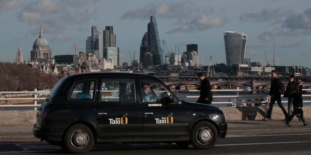 Illustrationsbild: Taxibil i London. Lefteris Pitarakis / TT NYHETSBYRÅN