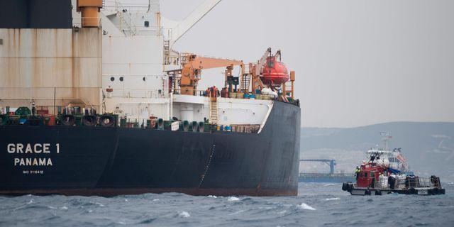 Oljefartyget Grace 1. JORGE GUERRERO / AFP