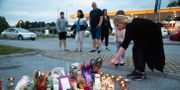 Minnesplats efter dödsskjutningen i Botkyrka. Ali Lorestani/TT / TT NYHETSBYRÅN