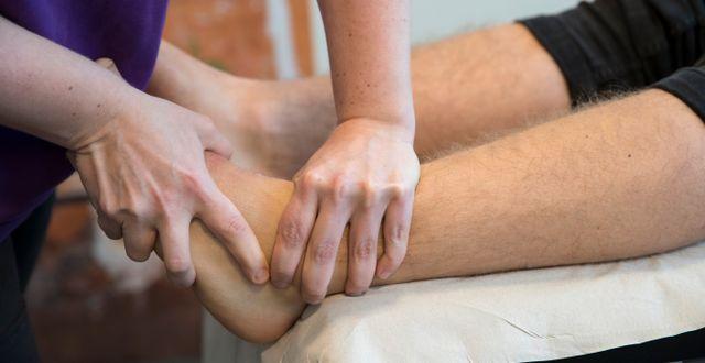 Arkivbild. Fysioterapeut i arbete Bendiksby, Terje / TT NYHETSBYRÅN