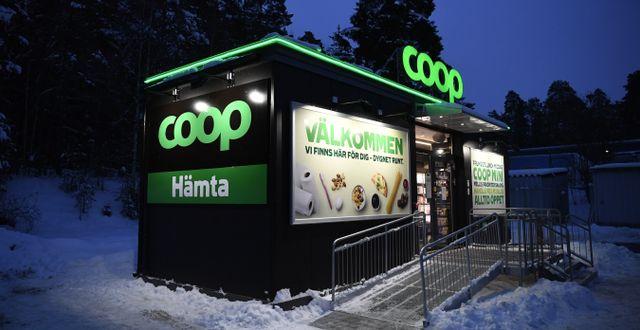 Coops första obemannade butik ligger utanför Gävle.  Pontus Lundahl/TT / TT NYHETSBYRÅN