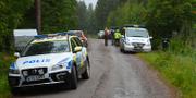 Polisen på plats i Hudiksvall. TT