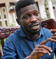 Huvudutmanaren om presidentposten i Uganda, Bobi Wine Ronald Kabuubi / TT NYHETSBYRÅN
