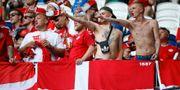 Danska fans under matchen mot Australien MICHAEL DALDER / BILDBYR N