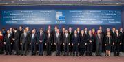 Regeringscheferna för EU-länderna i ett möte i oktober 2014. Geert Vanden Wijngaert / TT NYHETSBYRÅN/ NTB Scanpix