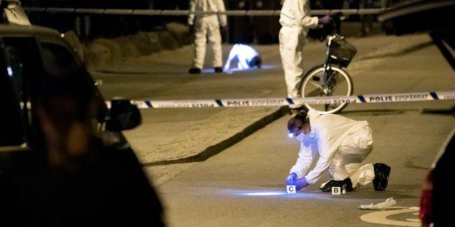 Polisen på brottsplatsen Johan Nilsson/TT / TT NYHETSBYRÅN