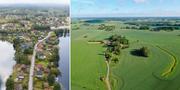 Illustrationsbilder. Flygbilder över Kristinehamns kommun och Högsby kommun. TT