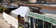 Provtagningstält utanför Sahlgrenska sjukhuset i Göteborg. Arkivbild. Adam Ihse/TT / TT NYHETSBYRÅN