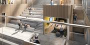 Skiss på hur Nya Humanisten i Göteborg ser ut. KUB arkitekter