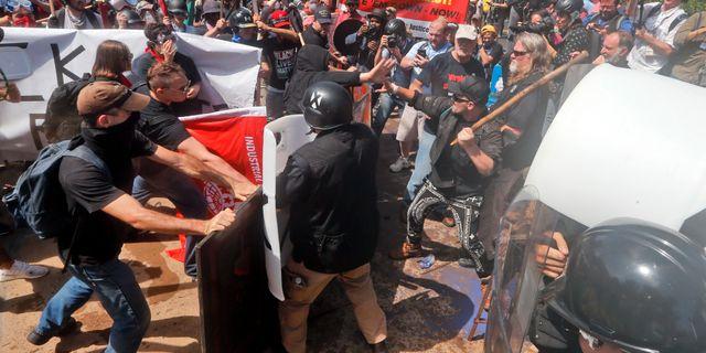 Demonstrationen i Charlotteville.  Steve Helber / TT / NTB Scanpix