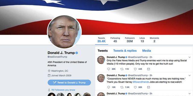 Arkivbild: Trump har twittrat mycket om börsen. TT