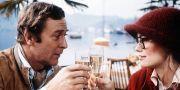 Michael Caine och Cybill Shepherd i filmen De smartaste från 1978. Caine är den brittiska manliga skådespelaren som haft flest filmroller. TT / NTB Scanpix