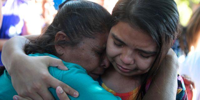 Imelda Cortez strax efter att hon lämnat rättssalen där hon friades. MARVIN RECINOS / AFP