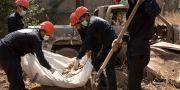 Bilder från platsen där kropparna hittats. Maya Alleruzzo / TT NYHETSBYRÅN