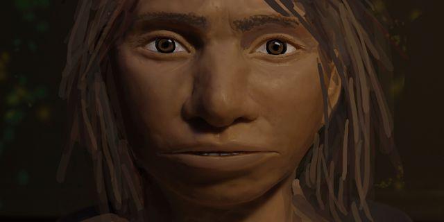 Rekonstruktion av hur denisovanerna kan ha sett ut. Maayan Harel / TT NYHETSBYRÅN