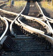 En växel vid korsande järnvägsspår.  Fredrik Sandberg/TT / TT NYHETSBYRÅN