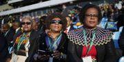 ANC-anhängare följer presidentens insvärning. TT