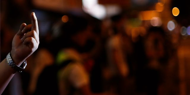 Illustrationsbild från protesterna i Hongkong.  JORGE SILVA / TT NYHETSBYRÅN