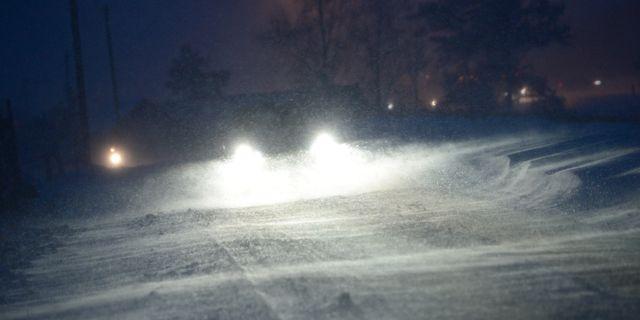 Det kan bli besvärligt på vägarna i Norrlands inland. Johan Nilsson / TT / TT NYHETSBYRÅN