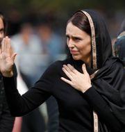 Jacinda Ardern under ett besök i Christchurch. Vincent Thian / TT NYHETSBYRÅN