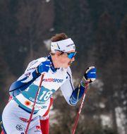 Poromaa under skiathlon-tävlingarna. JOHANNA LUNDBERG / BILDBYRÅN