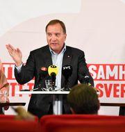 Hallengren, Löfven, Shekarabi Fredrik Sandberg/TT / TT NYHETSBYRÅN