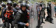 Bild från en demonstration i Venezuela i helgen. Fernando Llano / TT NYHETSBYRÅN/ NTB Scanpix